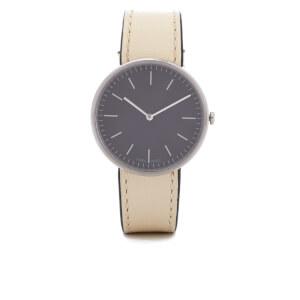 Uniform Wares Women's Mist Calf Leather Watch - Polished Steel