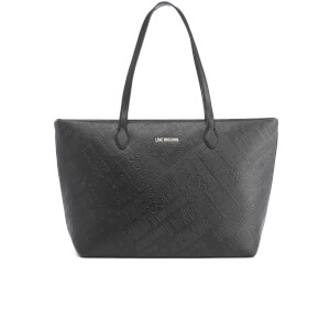 Love Moschino Women's Embossed Tote Bag - Black