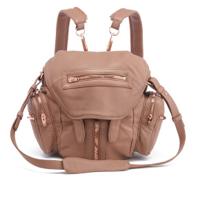 Alexander Wang Women's Mini Marti Latte Washed Leather Backpack - Latte