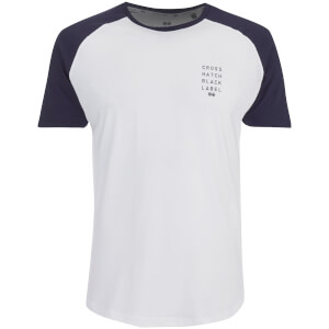 Crosshatch Men's Terrace T-Shirt - White/Night Sky Navy