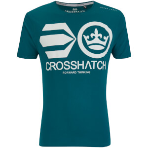 Crosshatch Men's Jomei T-Shirt - Deep Lake