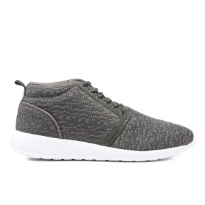 Crosshatch Men's Teague Mid Top Trainers - Light Grey/Dark Grey