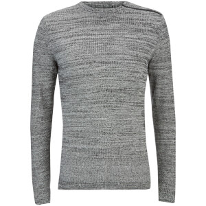Jack & Jones Men's Core Octavio Textured Jumper - Grey