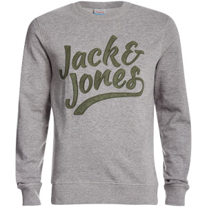 Jack & Jones Originals Men's Anything Graphic Sweatshirt - Light Grey Marl