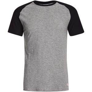Jack & Jones Originals Men's Stan Raglan T-Shirt - Light Grey/Black