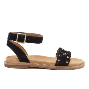 Clarks Women's Corsio Amelia Suede Barely There Sandals - Black