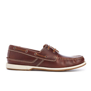 Clarks Men's Fulmen Row Leather Boat Shoes - Dark Tan
