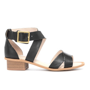 Clarks Women's Sandcastle Ray Leather Strappy Sandals - Black