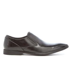 Clarks Men's Bampton Free Leather Slip-On Shoes - Black