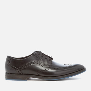 Clarks Men's Prangley Limit Leather Brogues - Black