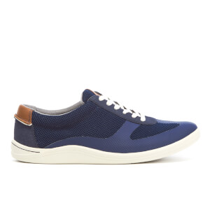 Clarks Men's Mapped Vibe Textile Runner Trainers - Blue Combi