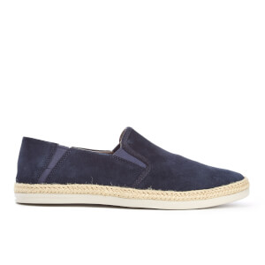 Clarks Men's Bota Step Suede Slip-On Trainers - Navy