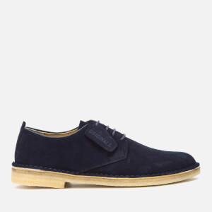 Clarks Originals Men's Desert London Suede Derby Shoes - Midnight