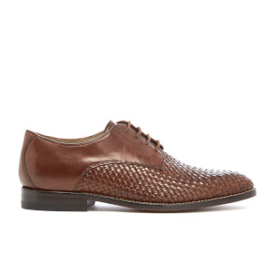 Clarks Men's Twinley Lace Weave Leather Derby Shoes - Tan