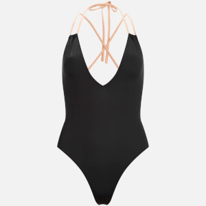 Solid & Striped Women's The Alexandra Swimsuit - Black/Nude