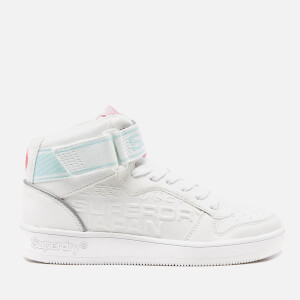 Superdry Women's Basket High Top Trainers - White