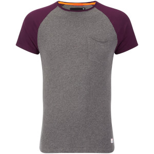 Superdry Men's Lite Loomed Cut Curl Baseball T-Shirt - Battleship Marl