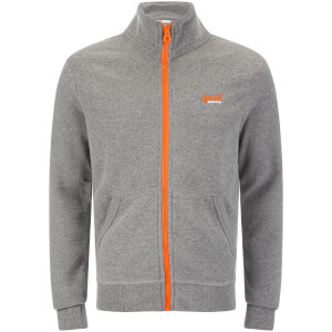 Superdry Men's Orange Label Track Top - Dark Marl