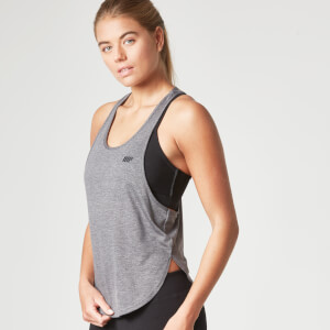 Myprotein Dames Core Racer Back Crop Top - Charcoal