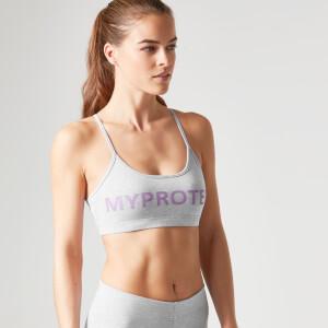 Myprotein 女士 Logo 印花运动内衣 – 灰色