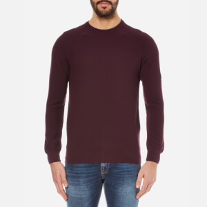 Barbour International Men's Steer Crew Neck Knitted Jumper - Port
