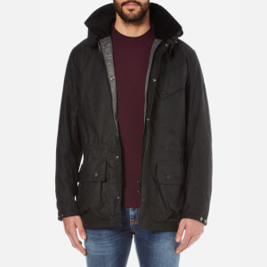 Barbour International Men's Onyx Wax Jacket - Black