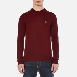 Luke 1977 Men's Gerard 3 Fine Knit Jumper - Lux Red