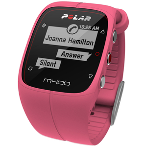 Polar M400 GPS Running Watch with Heart Rate Monitor - Pink