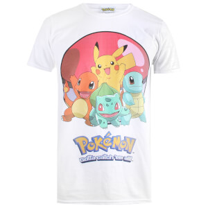 T-Shirt Homme Pokémon Groupball - Blanc