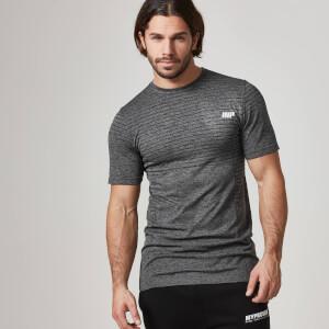 Мужская бесшовная футболка Myprotein – цвет Черный Марль