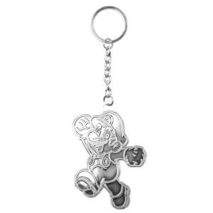 Silver Mario - Metal Keychain