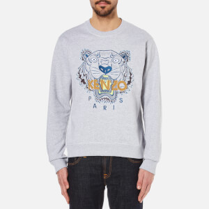 KENZO Men's Embroidered Tiger Sweatshirt - Pearl Grey