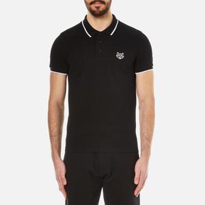 KENZO Men's Cotton Pique Tiger Polo Shirt - Black