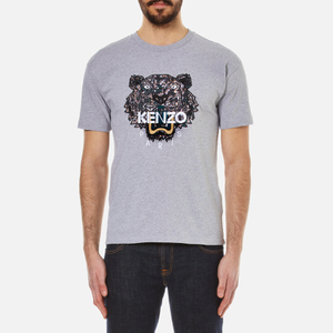 KENZO Men's Snake X Tiger T-Shirt - Dove Grey
