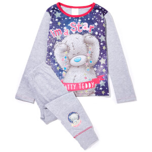 Me to You Bear Girl's Printed Scene Print Pyjamas - Grey