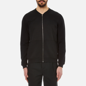 Folk Men's Jersey Bomber Jacket - Black