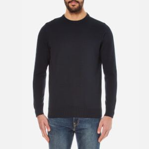 Barbour Men's Pima Cotton Crew Knitted Jumper - Navy