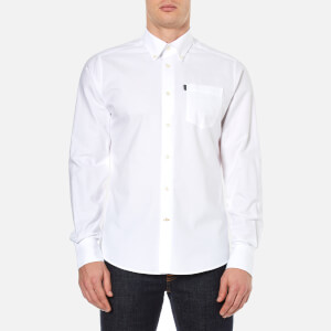 Barbour Men's Stanley Oxford Long Sleeve Shirt - White