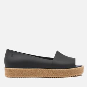 Melissa Women's Puzzle Peep Toe Flats - Black
