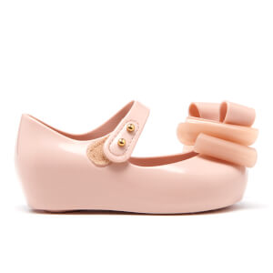 Mini Melissa Toddlers' Ultragirl Triple Bow Ballet Flats - Blush