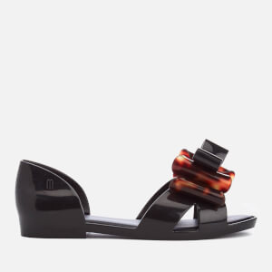 Mini Melissa Kids' Seduction Bow Flats - Black Tortoiseshell
