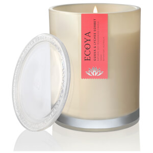 ECOYA Guava and Lychee Candle - Metro Jar