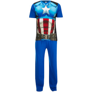 Marvel Men's Captain America Pyjama Set - Blue