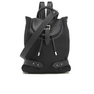 meli melo Women's Mini Nylon Backpack - Black