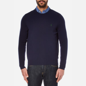 Polo Ralph Lauren Men's Long Sleeve Merino Knit Jumper - Hunter Navy