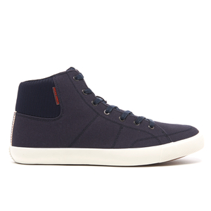 Jack & Jones Men's Dunmore Mid Top Trainers - Navy Blazer