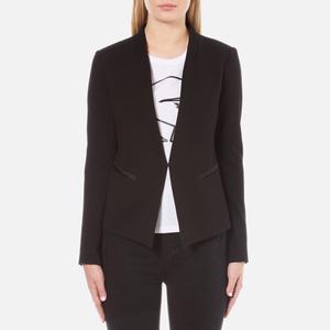 Karl Lagerfeld Women's Ikonik Punto Blazer - Black