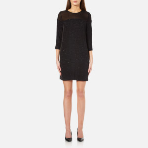 Karl Lagerfeld Women's Sparkle Stripe Dress - Black