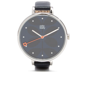 Orla Kiely Women's Ivy Leather Watch - Midnight