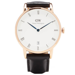 Daniel Wellington Women's Dapper Sheffield Rose Gold Watch - Black